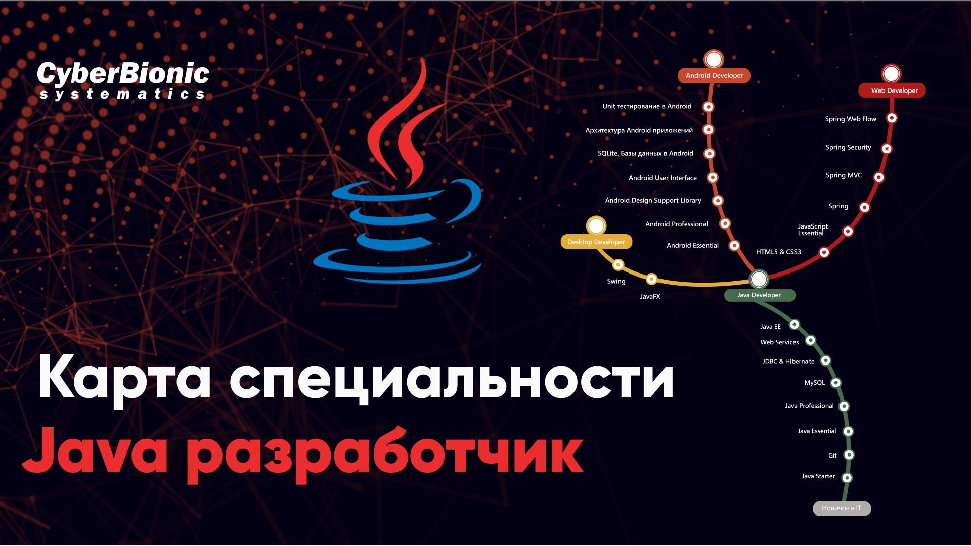 Обложка вебинара Карта специальности Java разработчик