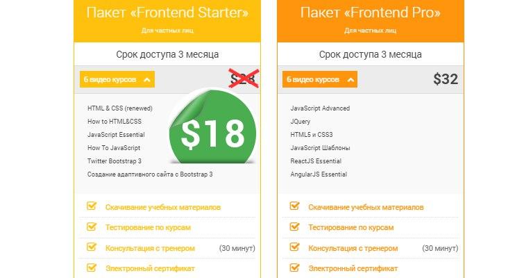 """Изображение к Стоимость пакета """"Frontend Starter"""" снижена"""
