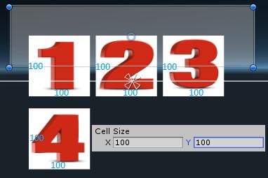 Поле Cell Size