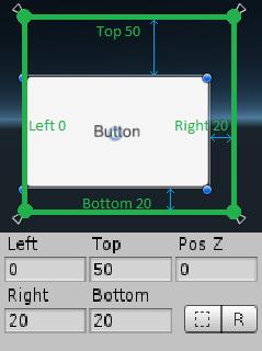 Задаем размер кнопки