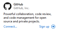 Расширение GitHub в Visual Studio Enterprise 2015