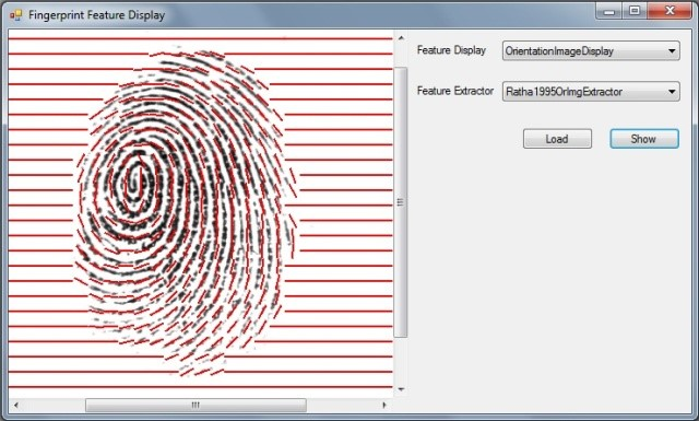 Визуализация изображения отпечатка