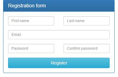 Форма регистрации в браузере