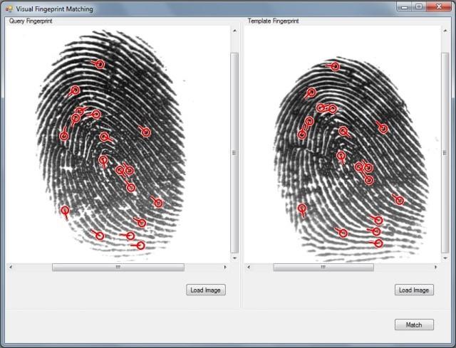 Программу сравнения отпечатков пальцев