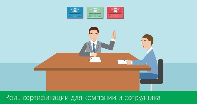 Роль сертификации для компании и сотрудника