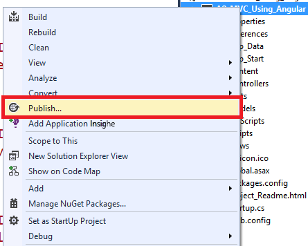 Окно Visual Studio 2013