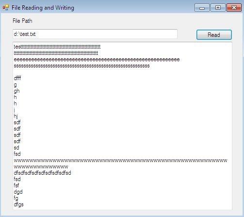 Процесс считывания текстового файла