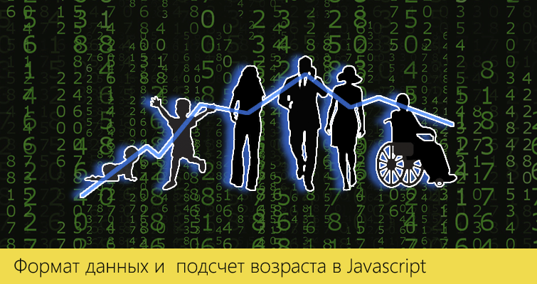 Формат данных и подсчет возраста в JavaScript