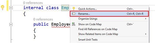 Пример опции Rename
